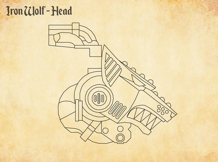 Iron Wolf - Head 3d printed