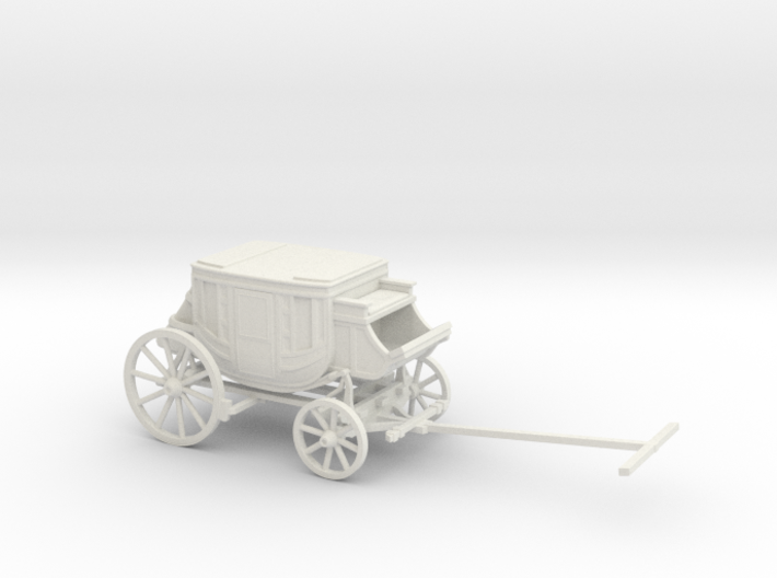 S Scale Stagecoach 3d printed This is a render not a picture