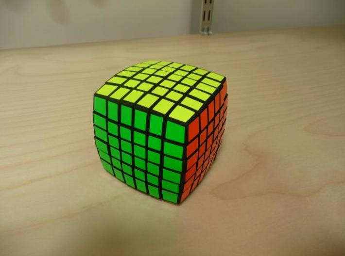 Pillowed 6x6 3d printed Dyed and Stickered