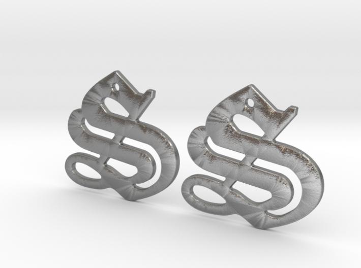 SISU (precious metal earrings) 3d printed