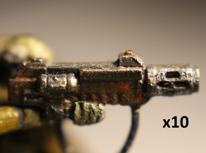 28mm SciFi Melting Blaster x10 3d printed protoype photo, slightly different