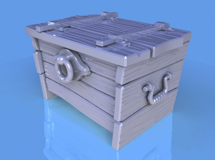 """BotW"" Wooden Treasure Chest 3d printed Solidworks render."