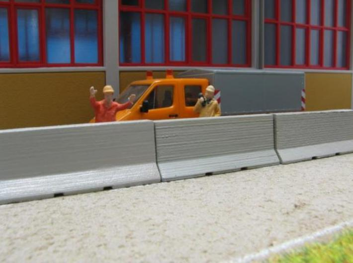 HO/1:87 Jersey barrier 3m 3d printed Diorama (without figures & car model & background building)