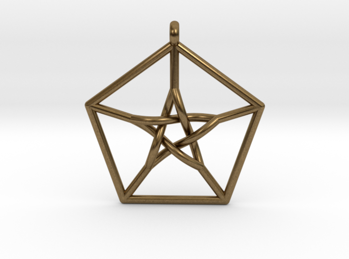 Petersen Graph Pendant 3d printed