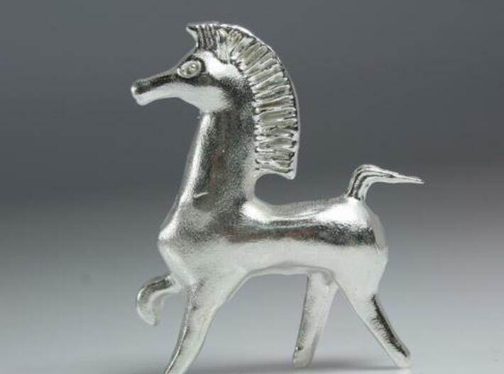 Bucephalus Horse 3d printed Printed in .925 Silver
