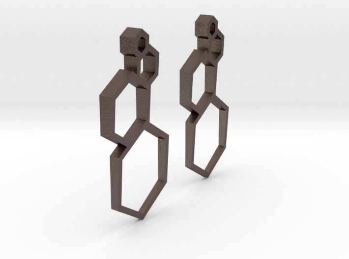 Hexagon Bubble Earrings 3d printed