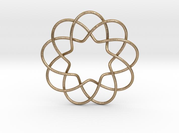 Interwoven Petal Pendant 3d printed