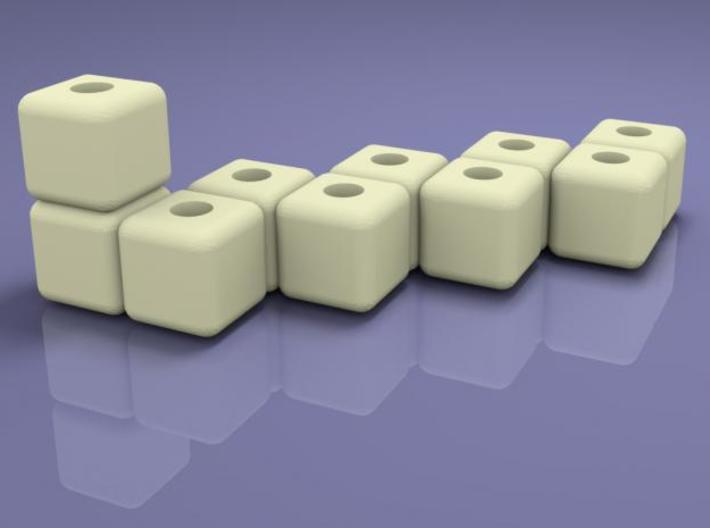 Block menorah 3d printed Rendered in sunflow.