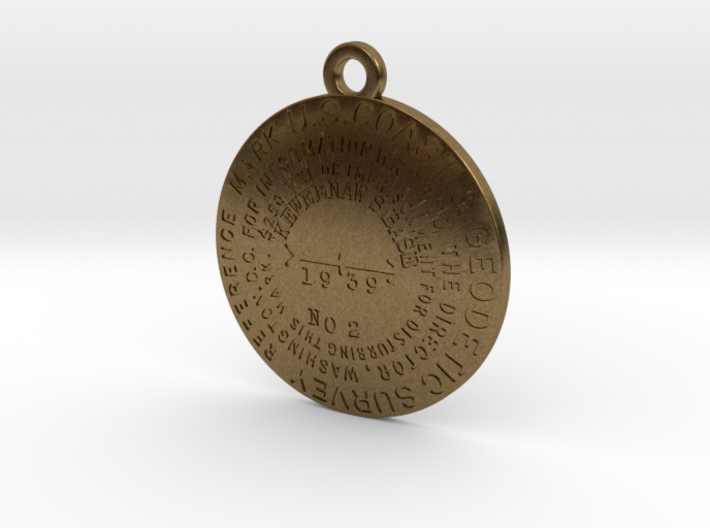 Keweenaw South Base Reference Mark Keychain 3d printed