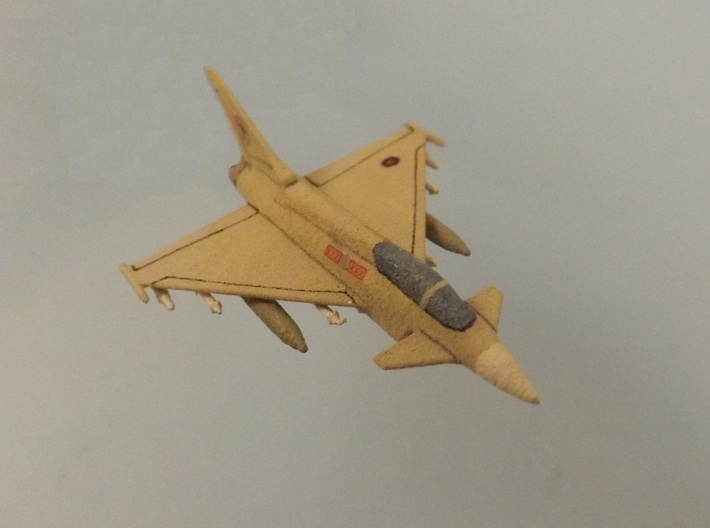 1/285 (6mm) Eurofighter Typhoon w/Ordnance 3d printed Add a caption...