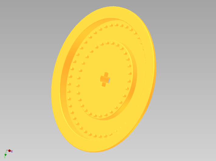 Wheelcover for racing wheel medium 3d printed