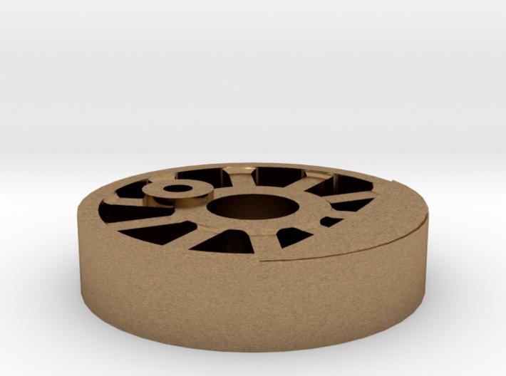 NZ 0-6-0 Peckett Wheel center 3d printed