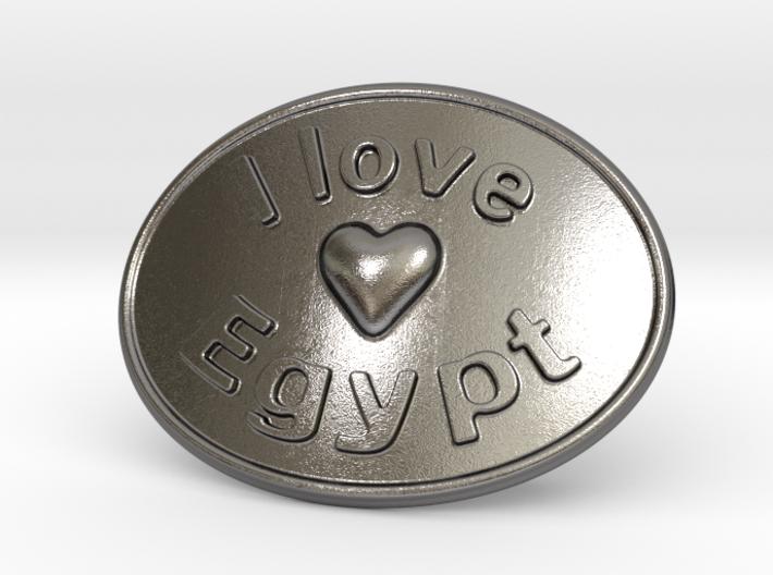 I Love Egypt Belt Buckle 3d printed