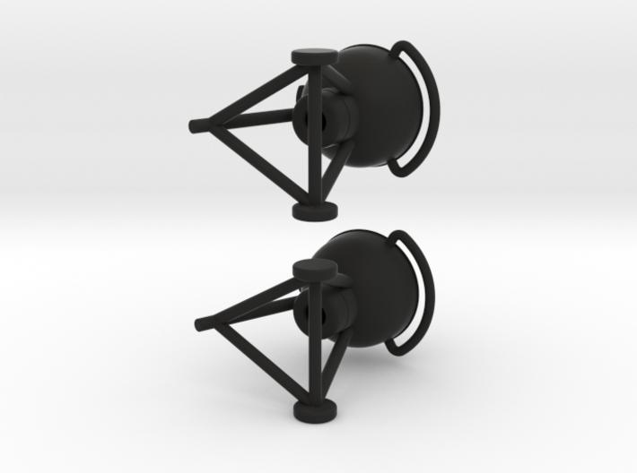 Grill Earrings 3d printed