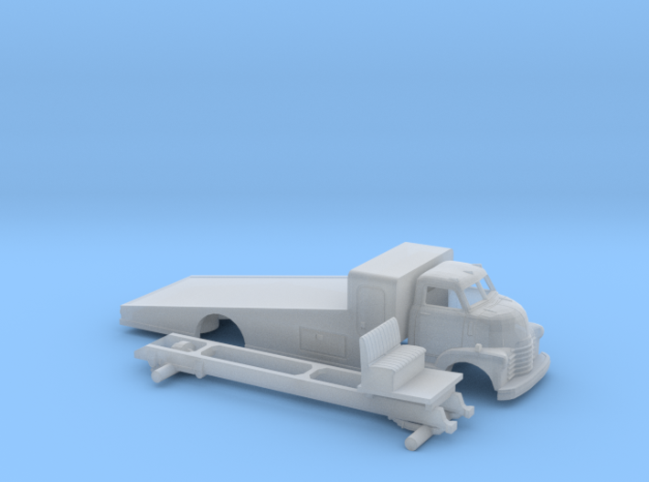 1/87 1949 Chevy COE Ramp Bed Kit 3d printed