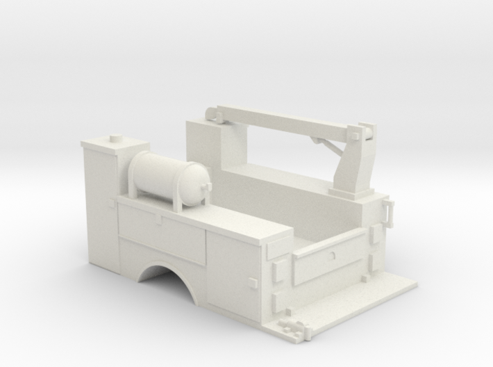 MOW Truck Bed With Fixed Crane 1-50 Scale 3d printed