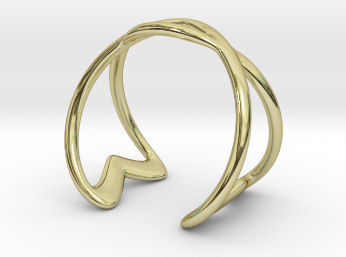 Cuff Bracelet Weave Line B-003 3d printed