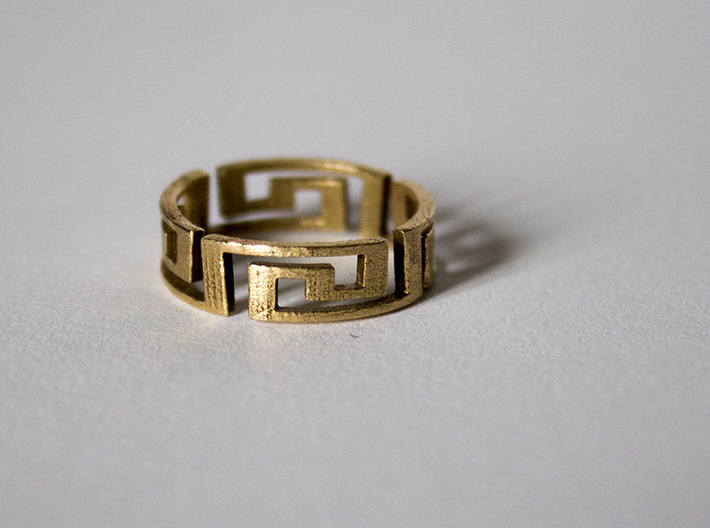 Aztec ring Size 7 5 3d printed