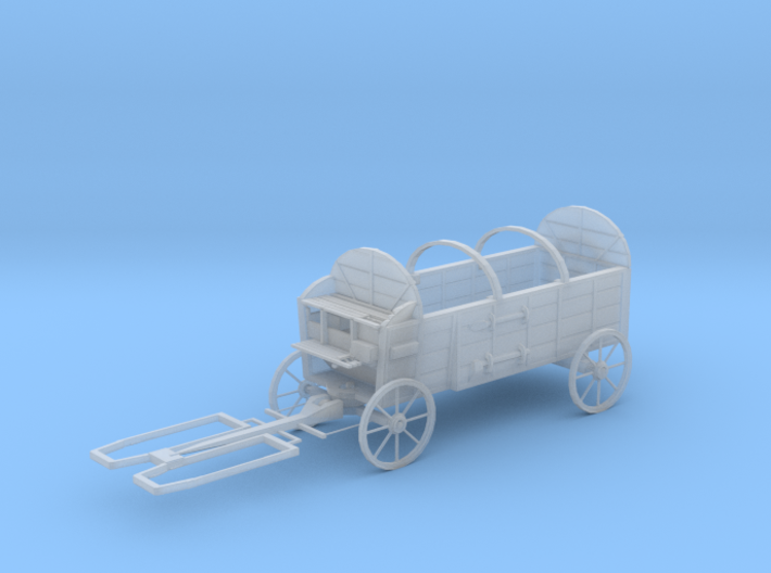 S Scale Hay Wagon 3d printed This is a render not a picture