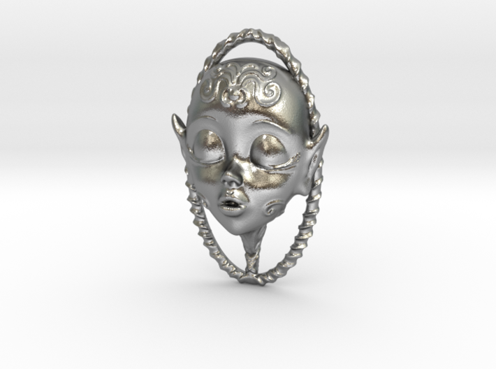 Doll faced Scent Locket 3d printed