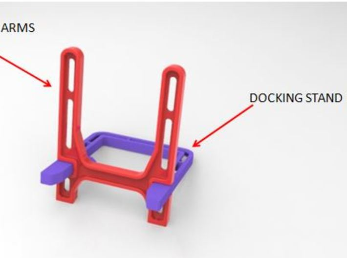 DOCKING STAND ARMS 3d printed Add a caption...