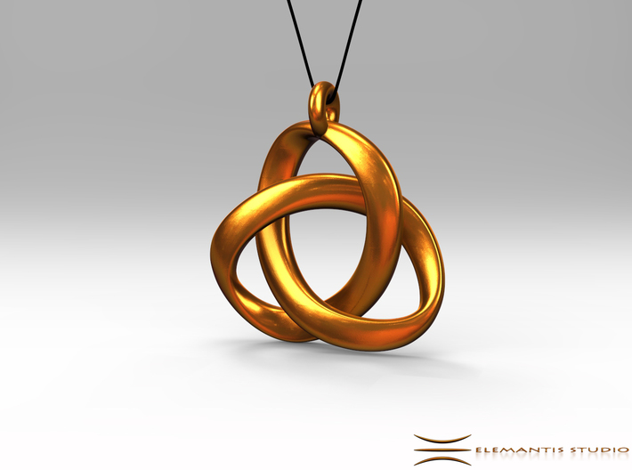3D Open Triquetra Pendant 4.5cm 3d printed Pendant cord not included