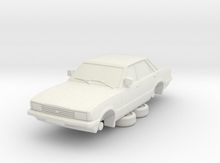 1-87 Ford Cortina Mk5 4 Door Hollow (repaired) 3d printed