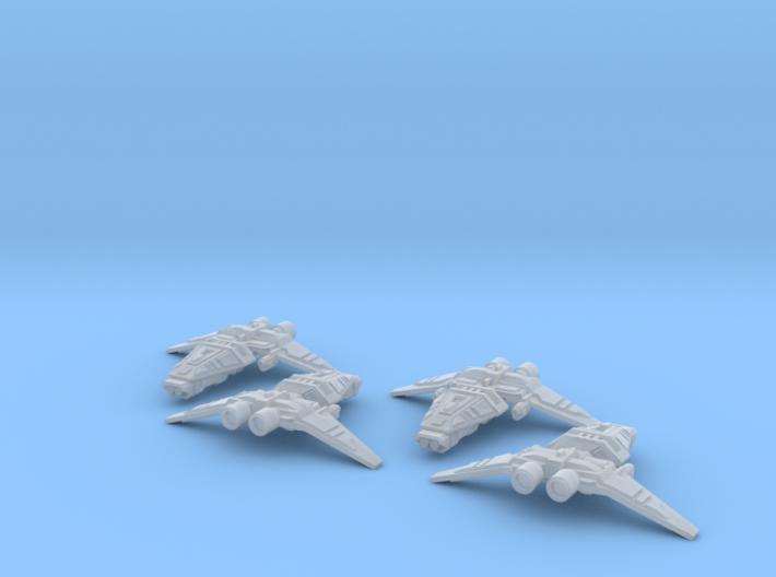 HOMEFLEET Corvette Squadron - 4 ships 3d printed