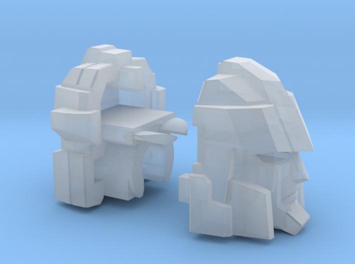 Blocky Driller's Head 3d printed