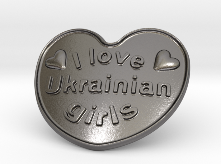 I Love Ukrainian Girls 3d printed