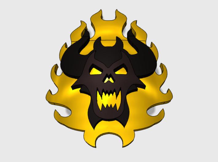 60x Burning Demon : Shoulder Insignia pack 3d printed