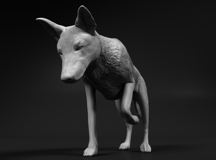 Saarloos Wolfdog 1:12 Female stalks small prey 3d printed