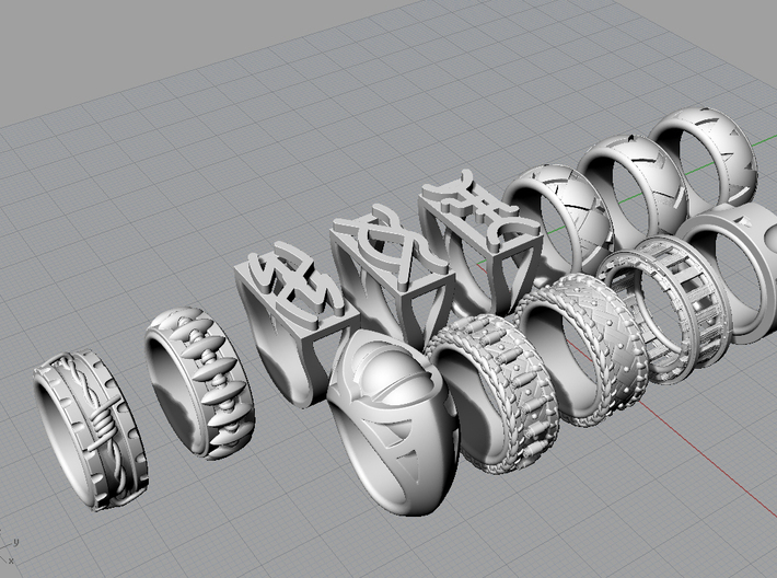 Mountain Lion Ring - Size 9 1/2 (19.35 mm) 3d printed All rings in the Western Collection