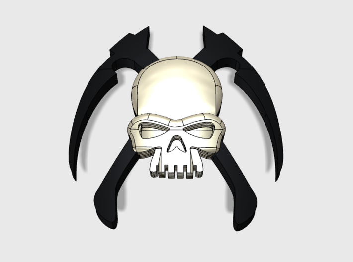 60x Specters of Death : Shoulder Insignias 3d printed