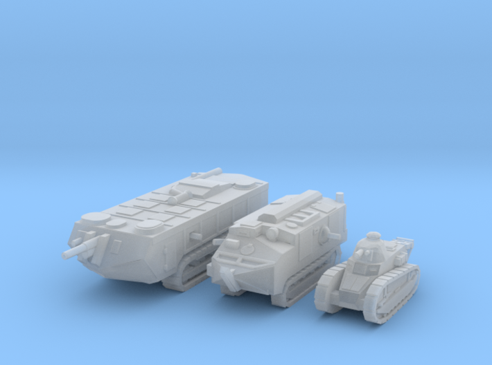 6mm WW1 French Tanks 3d printed