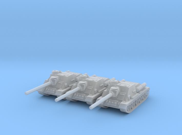 6mm SU-100 tank hunter (3) 3d printed