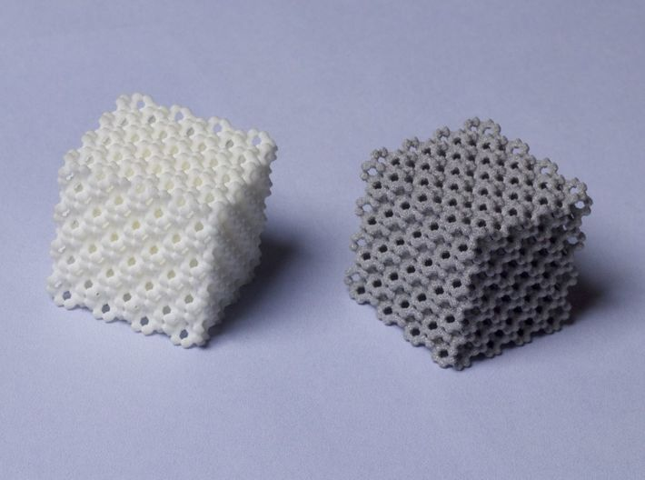 Ultrablock 1in. 3d printed WSF and Alumide materials