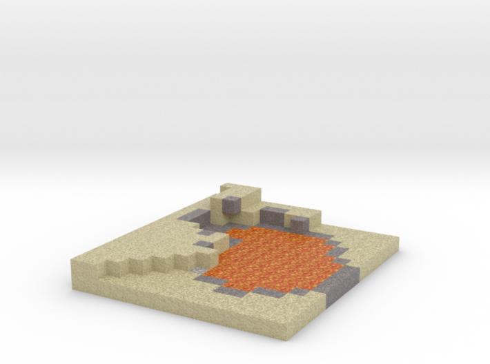 Minecraft Desert Lake of fire 3d printed