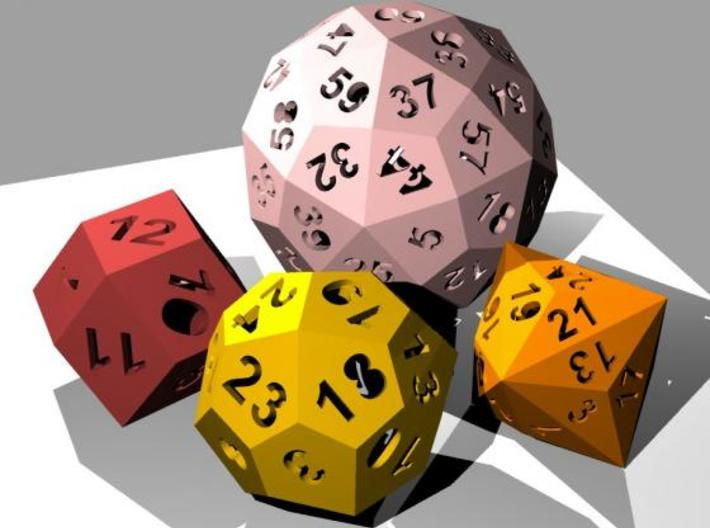 Catalan dice bundle 1 3d printed Rendering