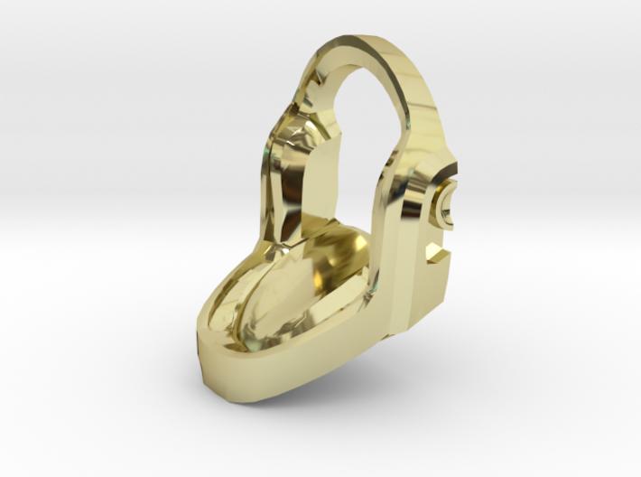 Daft Punk Gold Cufflink 3d printed