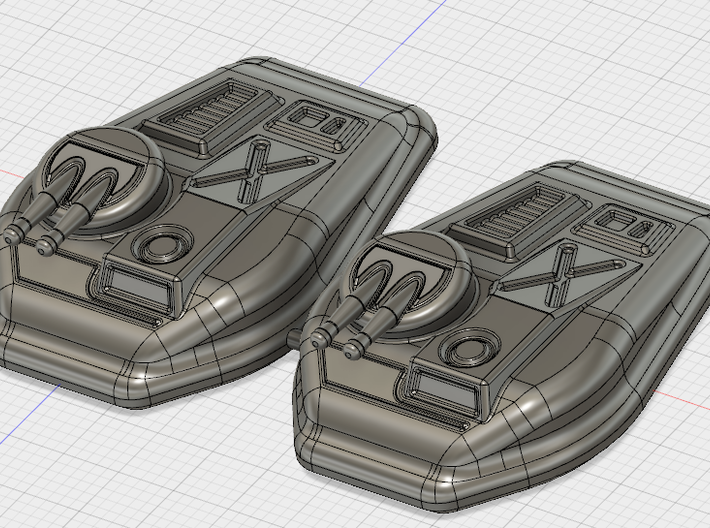 6mm Fast Attack Hover Tank 3d printed Buy the twin set for better price