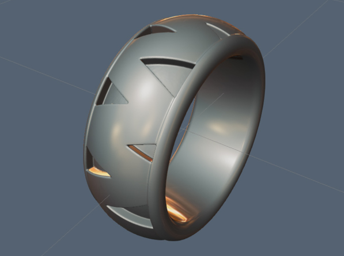 Snake Ring / Copperhead - size 9 1/2 (19.35 mm) 3d printed Check out Diamondback ring cast in silver