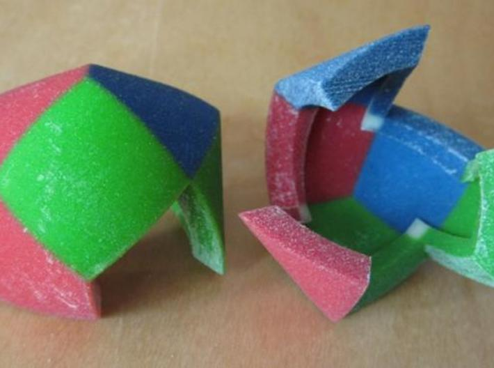 Color Pillowhedron 4cm 3d printed Puzzle pieces (view 2)