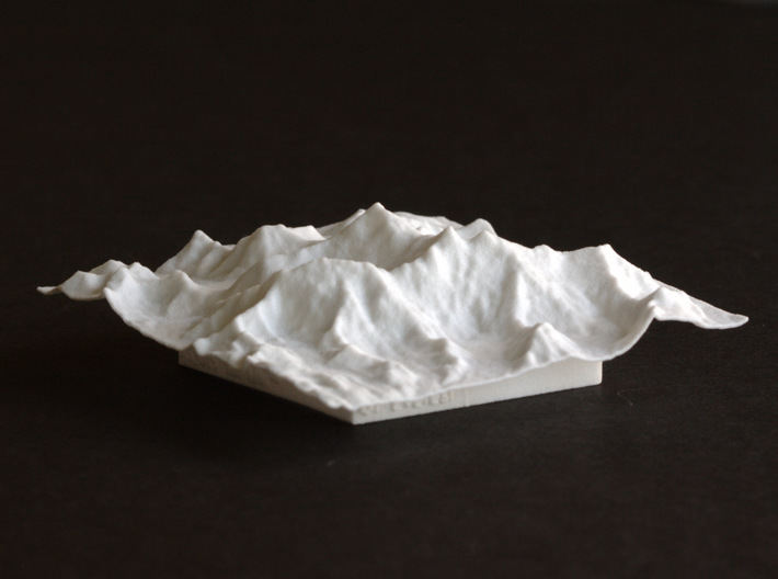 3''/7.5cm Mt. Everest, China/Tibet, WSF 3d printed