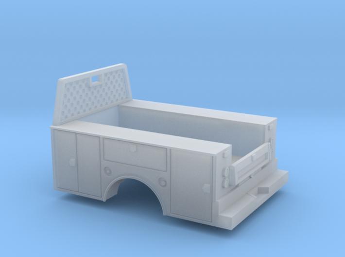 Standard Full Box Truck Bed W Cab Guard 1-87 HO Sc 3d printed