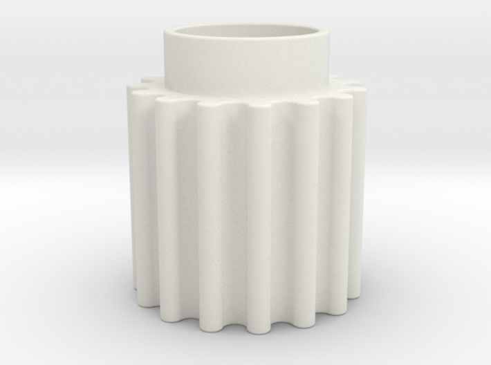 Round Tooth Gear 3d printed