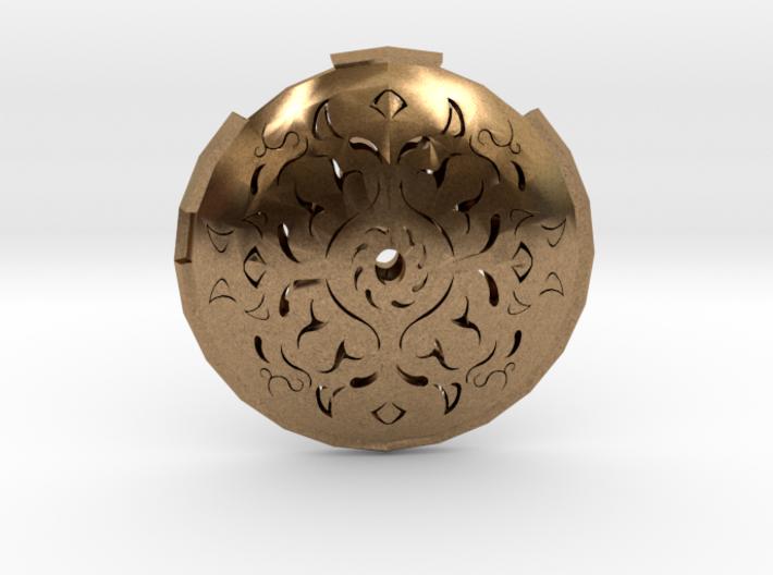 Hollow Rune Medallion 3d printed