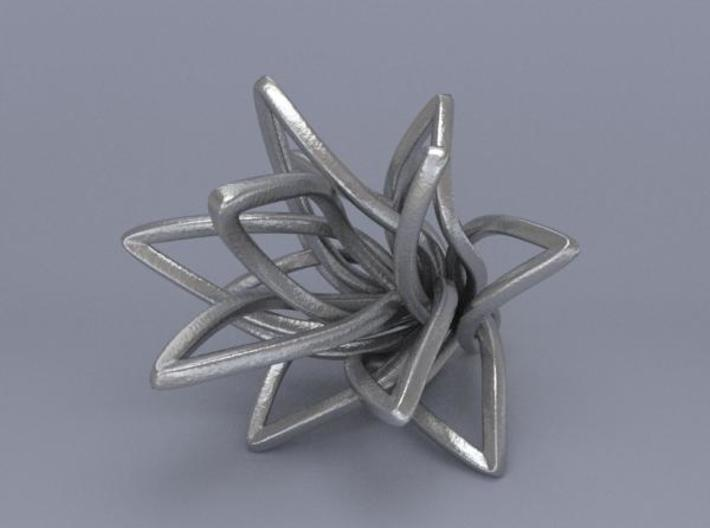 Spiral Flower with loop 3d printed Render 1