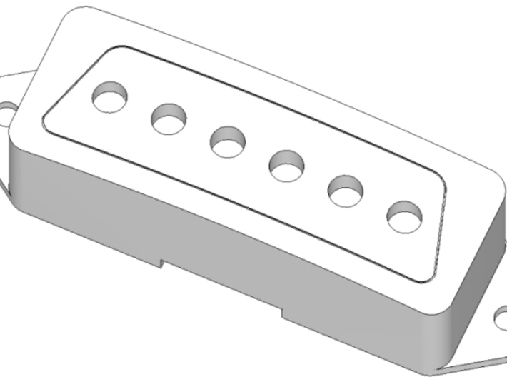 1802T Pickup Cover 3d printed Render: Raw part color as supplied.