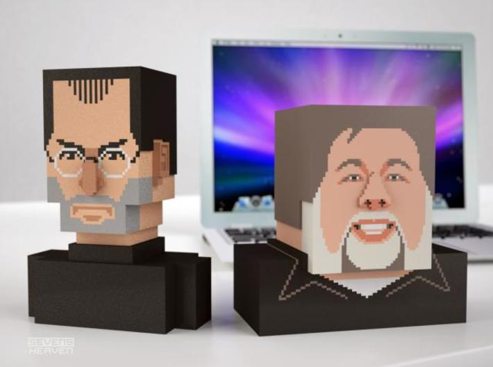 Steve Wozniak bust 3d printed Jobs and Woz 3